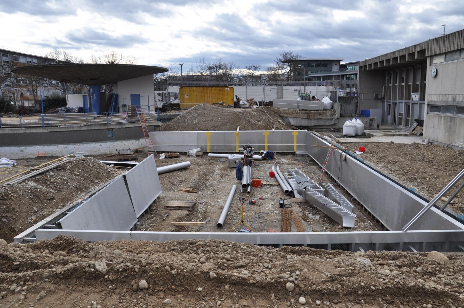 Piscine Jean Mermoz - Lyon 8 : chantier - Z Architecture
