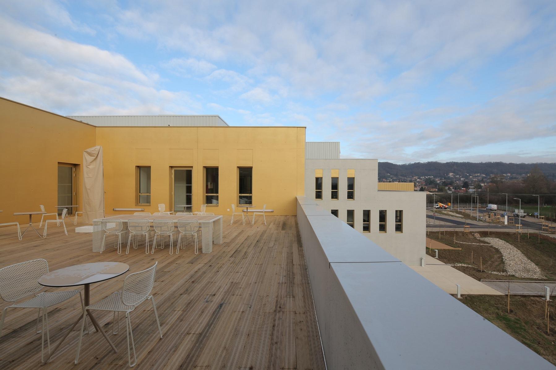 Siège ABB - Beynost : rooftop - Z Architecture