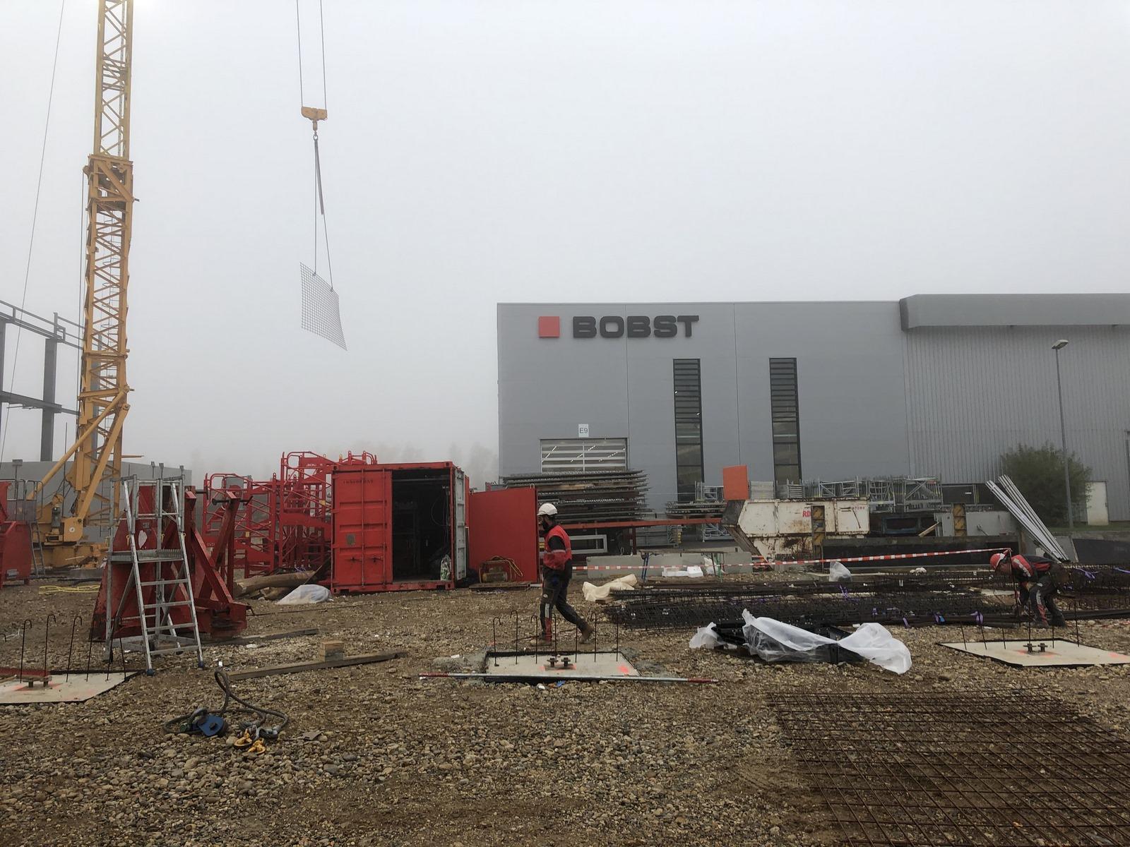Siege BOBST à Bron : chantier - Z Architecture