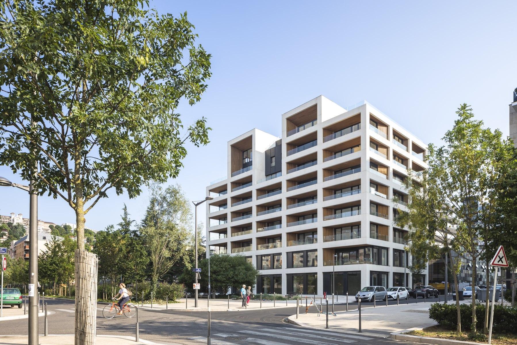 Ilot G / Les Loges de Saone - Lyon confluence : façade sur rue - Z Architecture