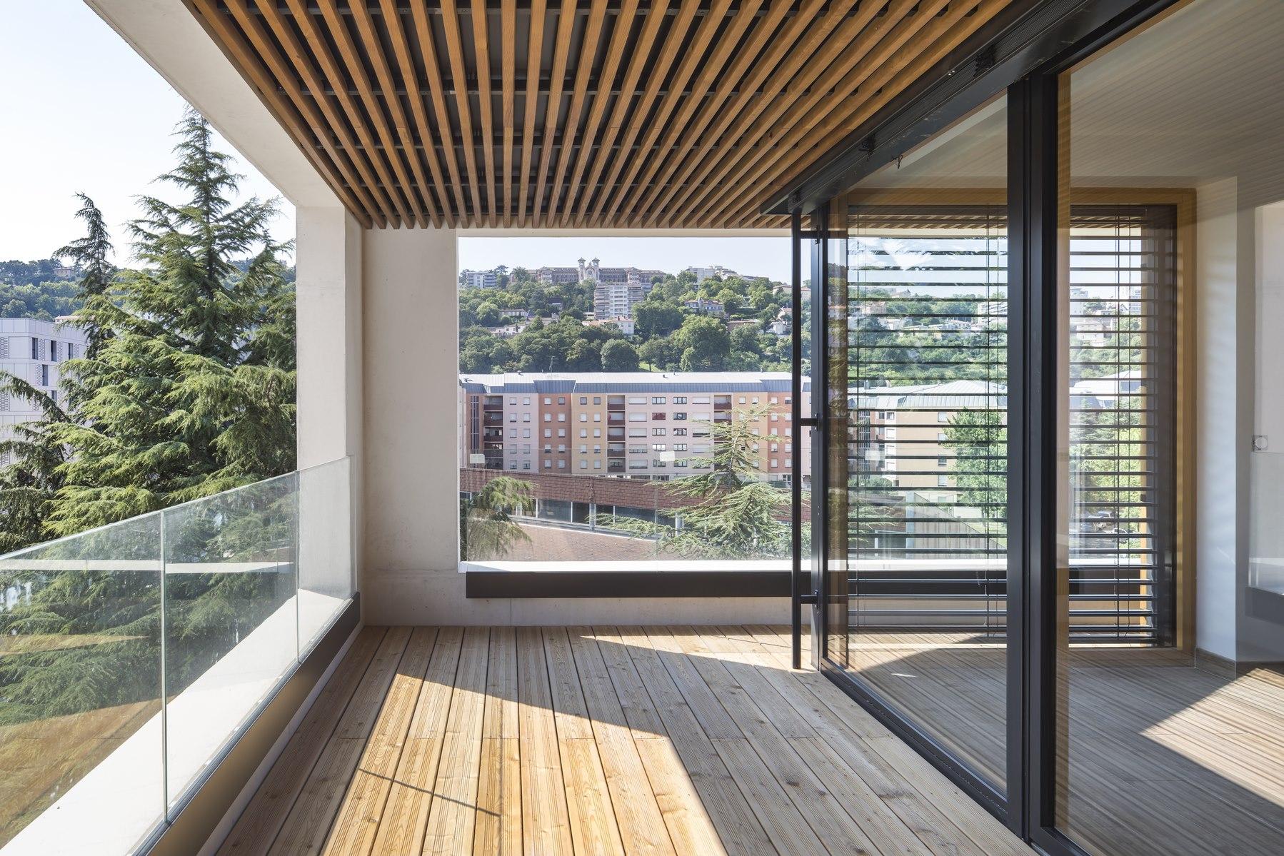 Ilot G / Les Loges de Saone - Lyon confluence : loggia - Z Architecture