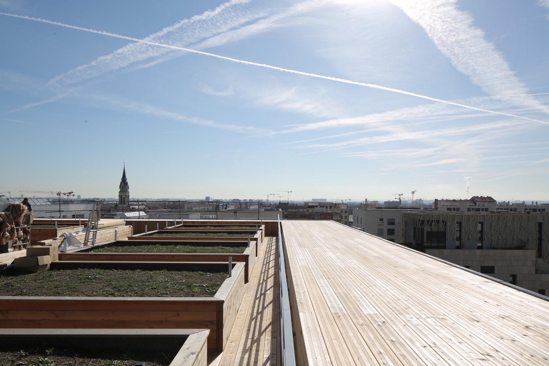 Ilot G / Les Loges de Saone - Lyon confluence : toit collectif- Z Architecture