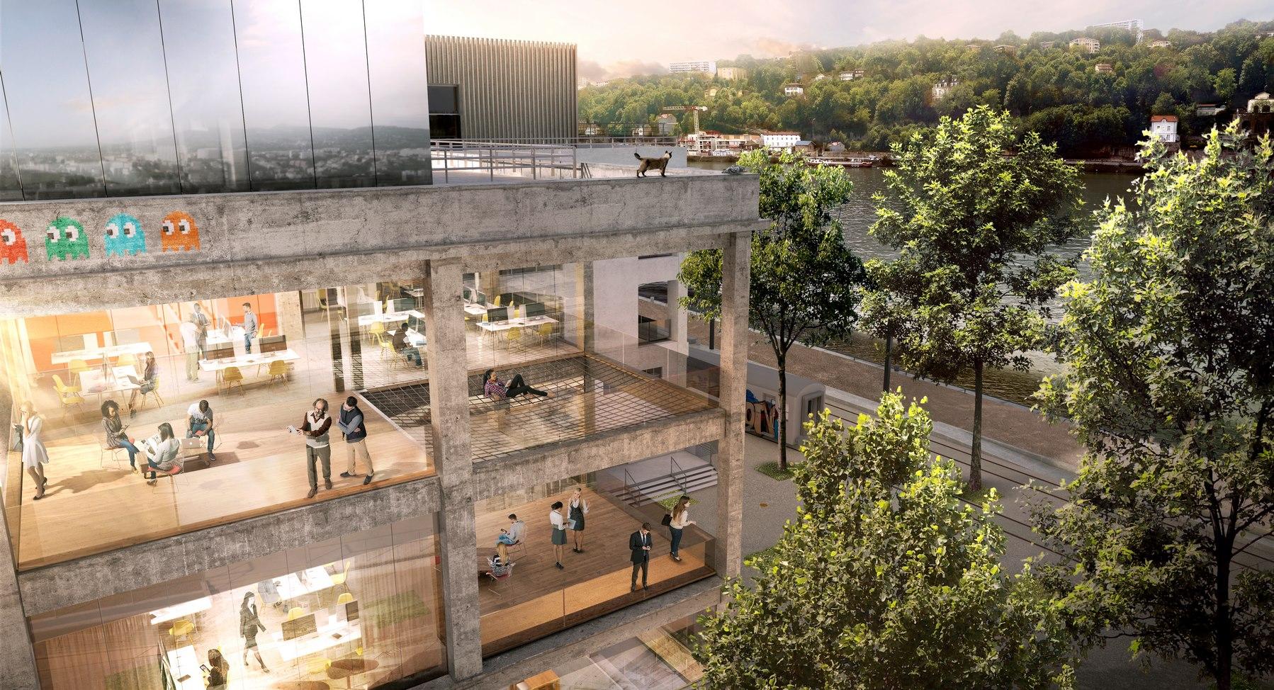La Sucrière - Pergola - Lyon Confluence - Z Architecture