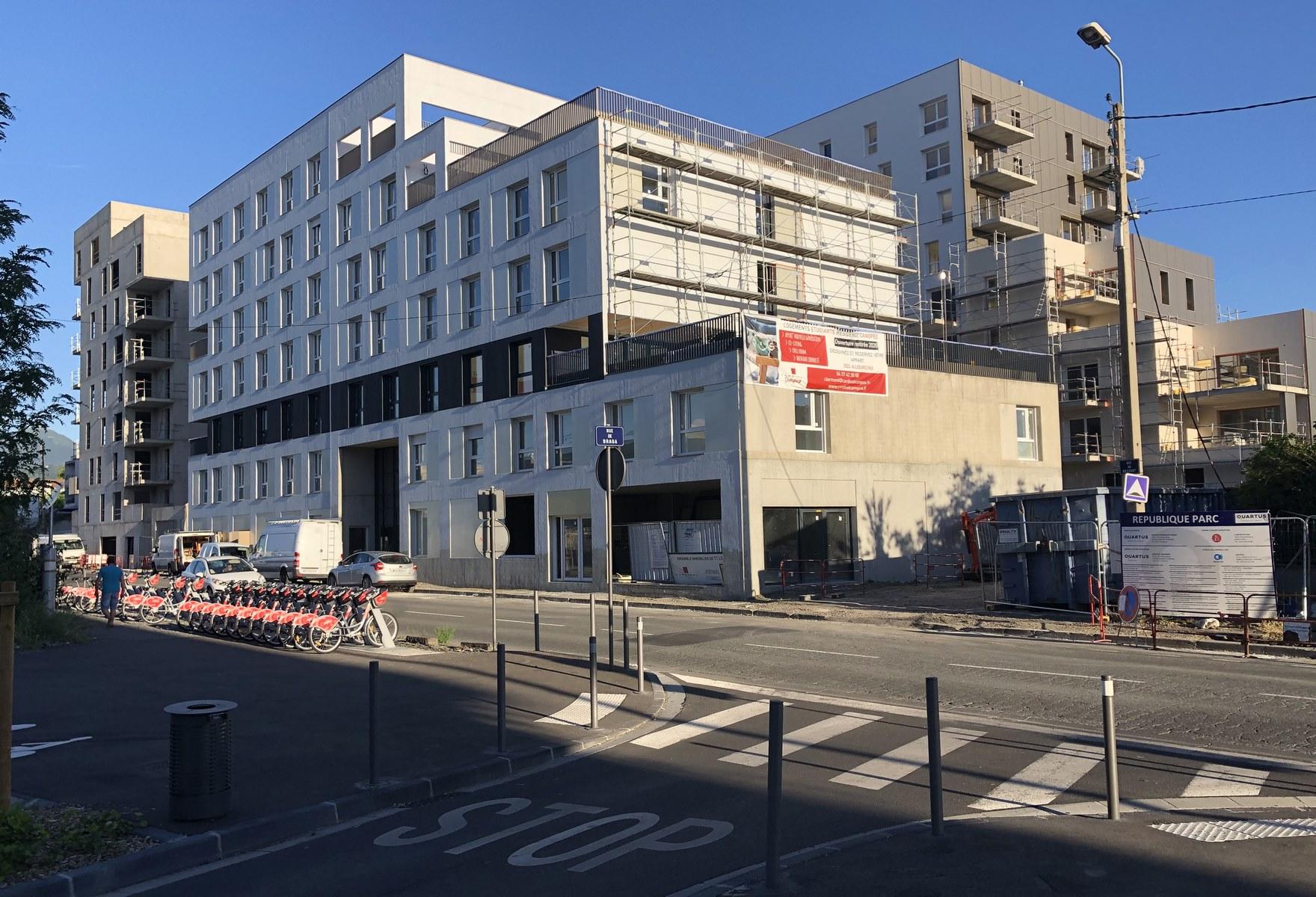 Logements collectifs et résidence étudiante - Franc-Rosier - Clermont-Ferrand - Z Architecture - chantier