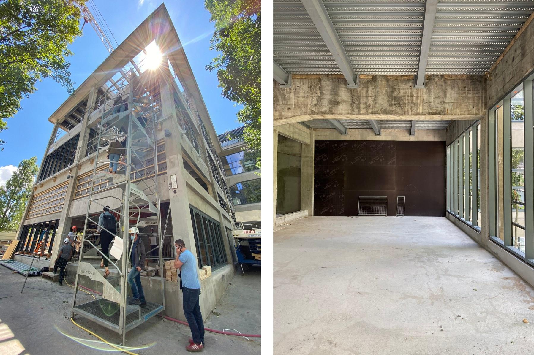La Sucrière - Pergola - Lyon Confluence - Z Architecture - chantier