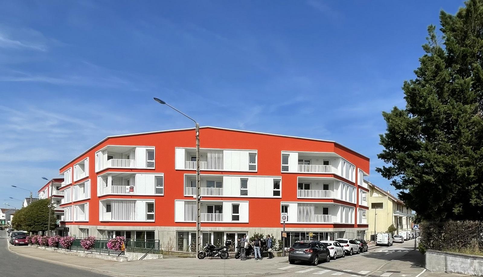 Les Marronniers - logements - La Verpillière - Z Architecture - chantier - façade