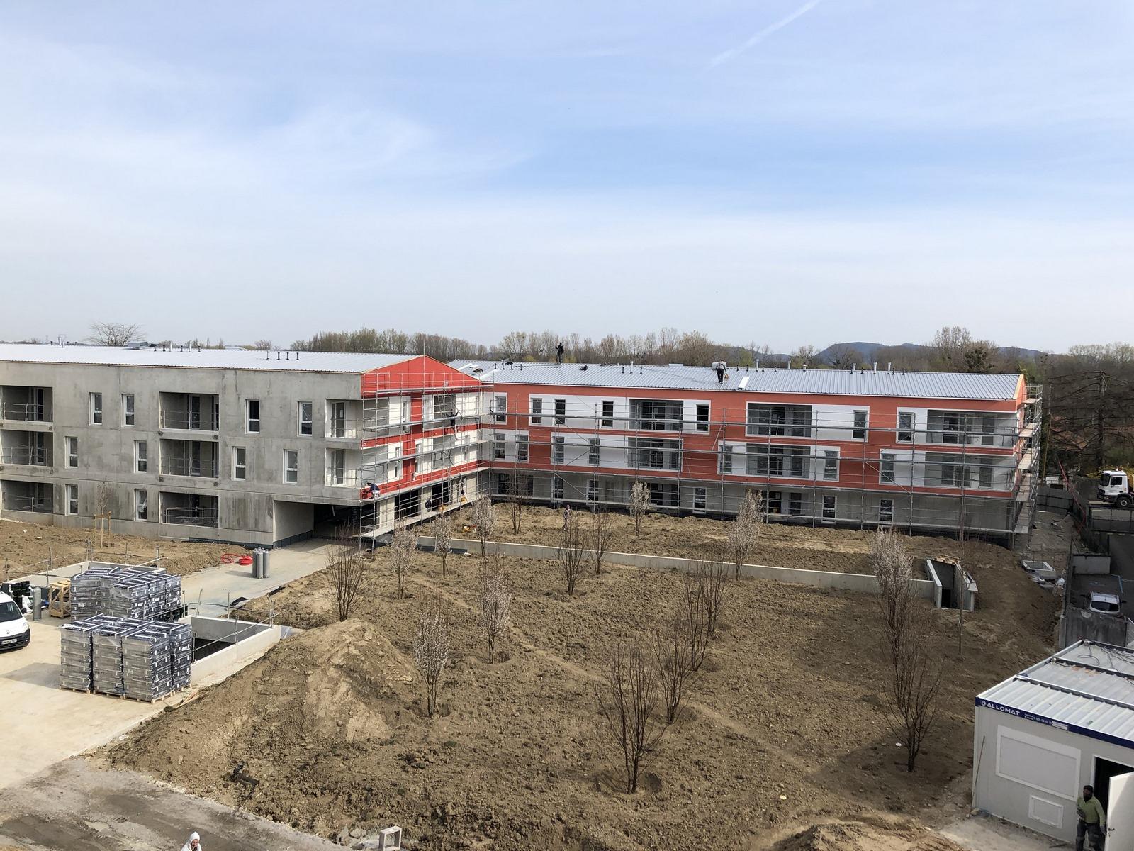 Les Marronniers - logements - La Verpillière - Z Architecture - chantier - façades