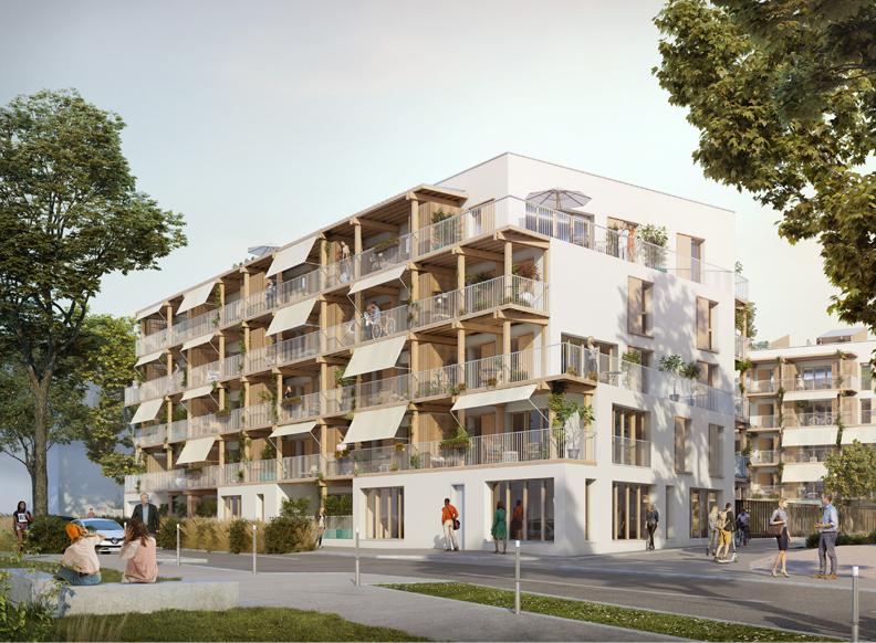 """""""Passerelles"""" - Logements collectifs - écoquartier Monplaisir-Quarantaine - Villefranche-sur-Saône - Z Architecture"""