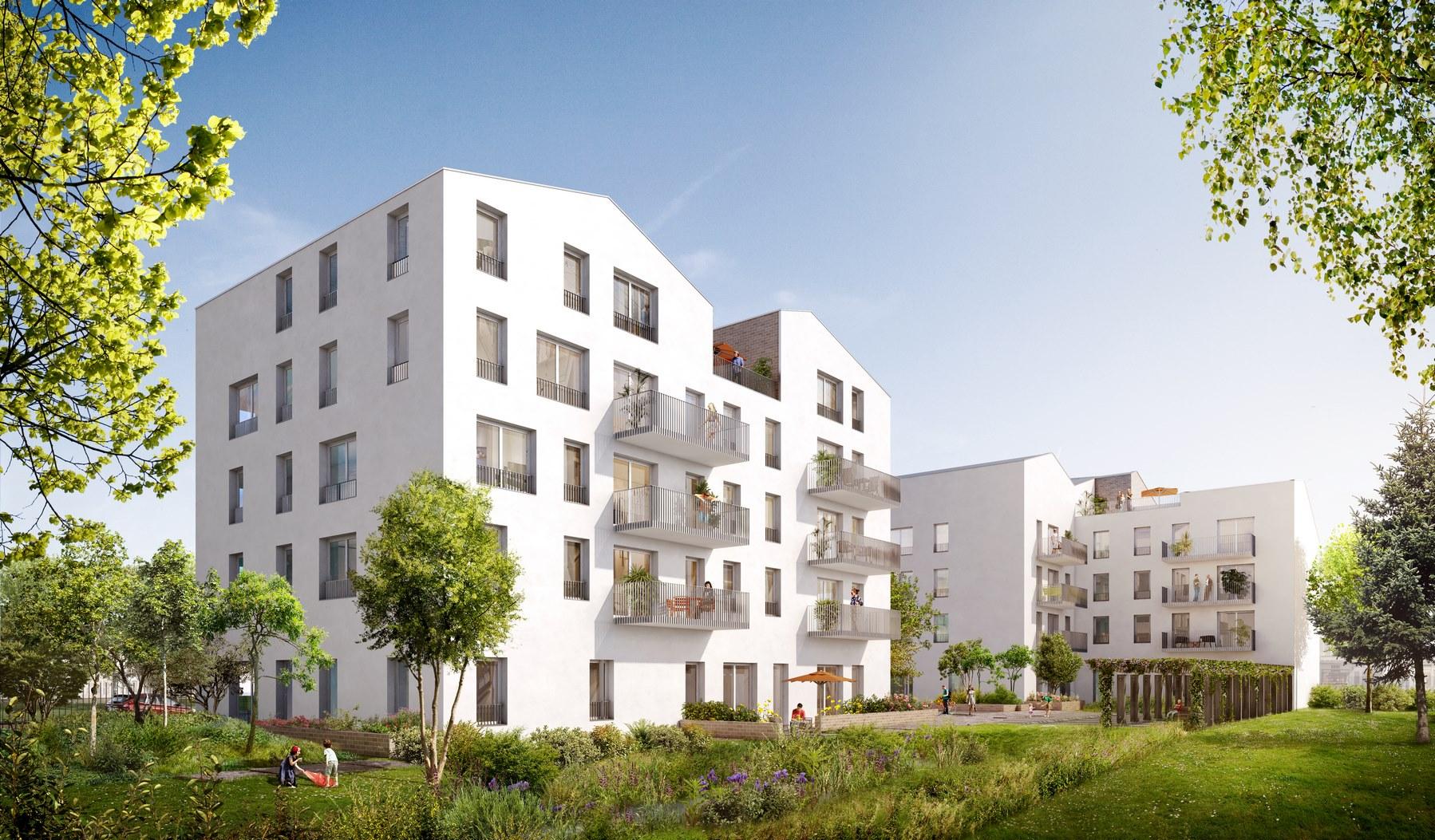 Ilot 3H - Écoquartier Les Ilots Verts - Saint-Priest - Z Architecture