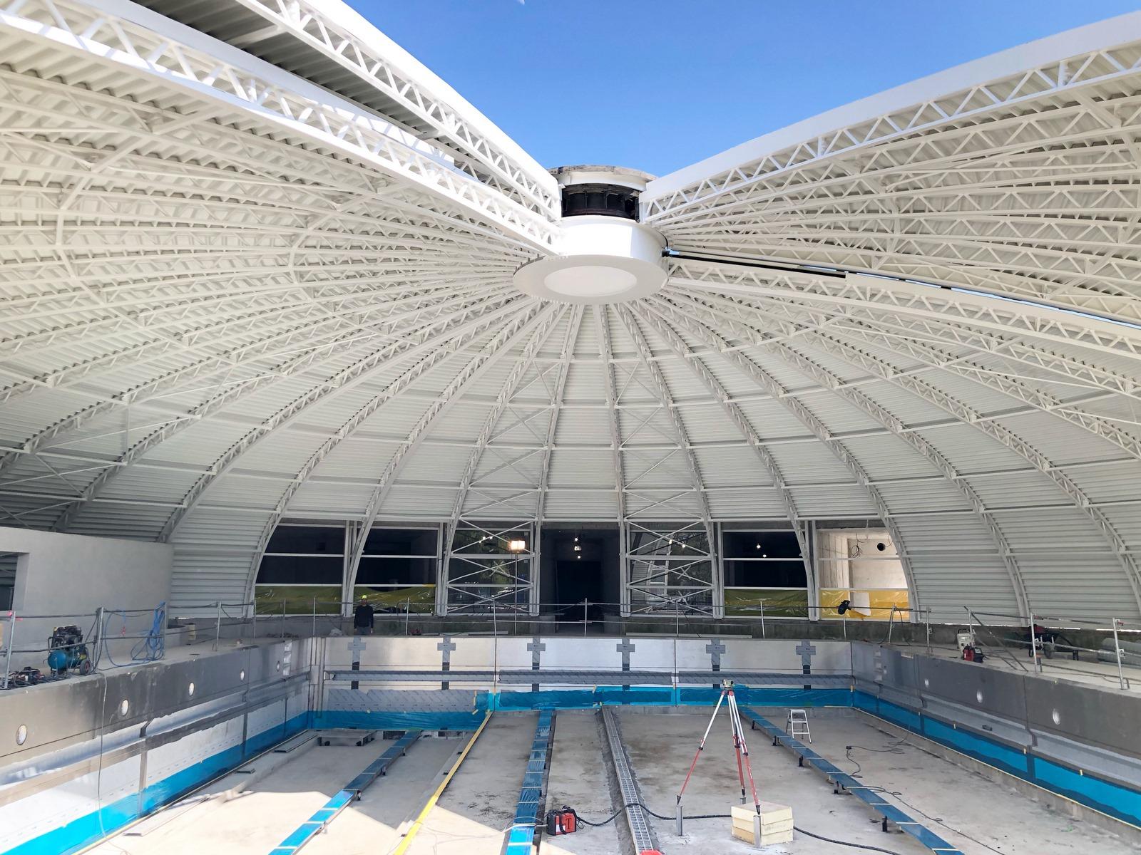 Réhabilitation piscine tournesol - les Abrets - Z Architecture - chantier