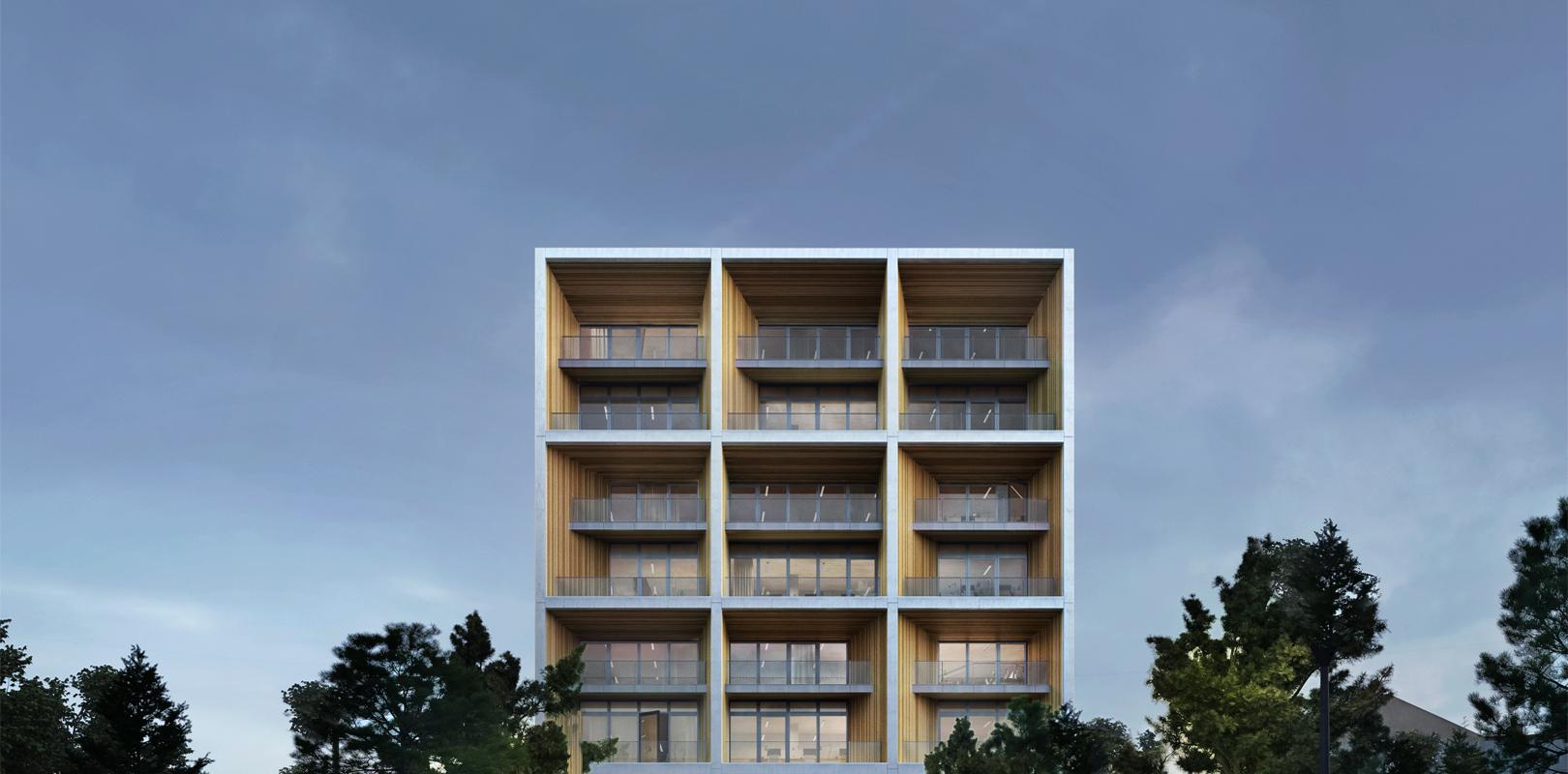 Ensemble mixte comprenant bureaux, logements et brasserie - Lyon 7ème - Gerland (69)